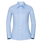 Ladies Long Sleeve Tailored Coolmax Shirt 70% Bawełna / 30% Polyester (Coolmax) 110/105